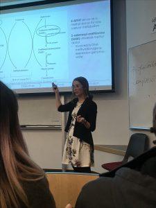Kelsey presenting her HUNU proposal seminar