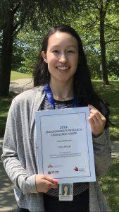 Cara Mayer wins the 2019 APNM Undergraduate Research Excellence Award!